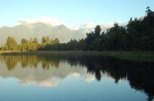 Reflecting in Lake Matheson