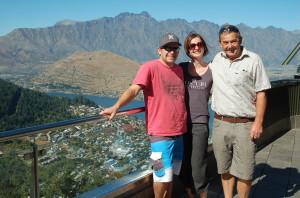 Hamish, Ria and Chris top of Gondola