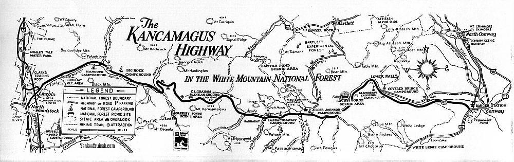 The Kancamagus Highway, White Mountain National Forest - RV Family on cassiar highway map, connecticut map, ventura highway map, yukon highway map, atlanta highway map, top of the world highway map, the devil's highway map, mount washington map, flume gorge map, blue ridge highway map, new england map, jefferson highway map, sea to sky highway map, hawaii highway map, gunnison road scenic byway map, kangamangus highway nh map, west coast highway map, white mountains map, loretto chapel map, denver highway map,