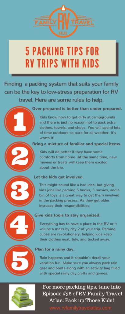 5 packing tips for RV families