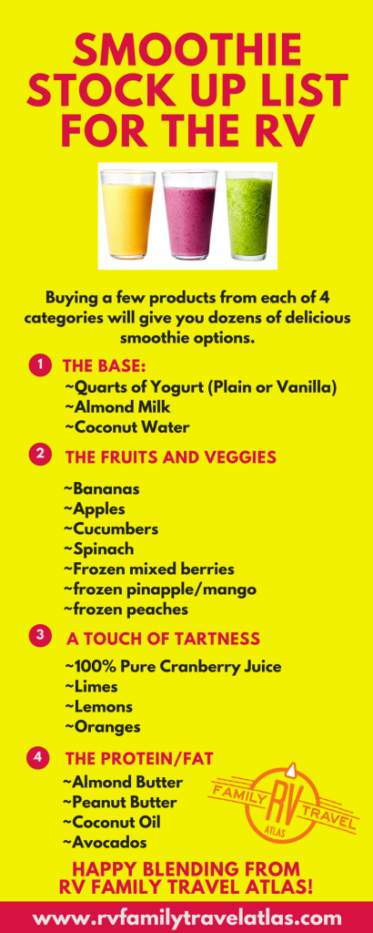Smoothie Stock Up List