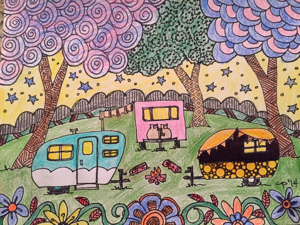 Travel Trailer Coloring Page