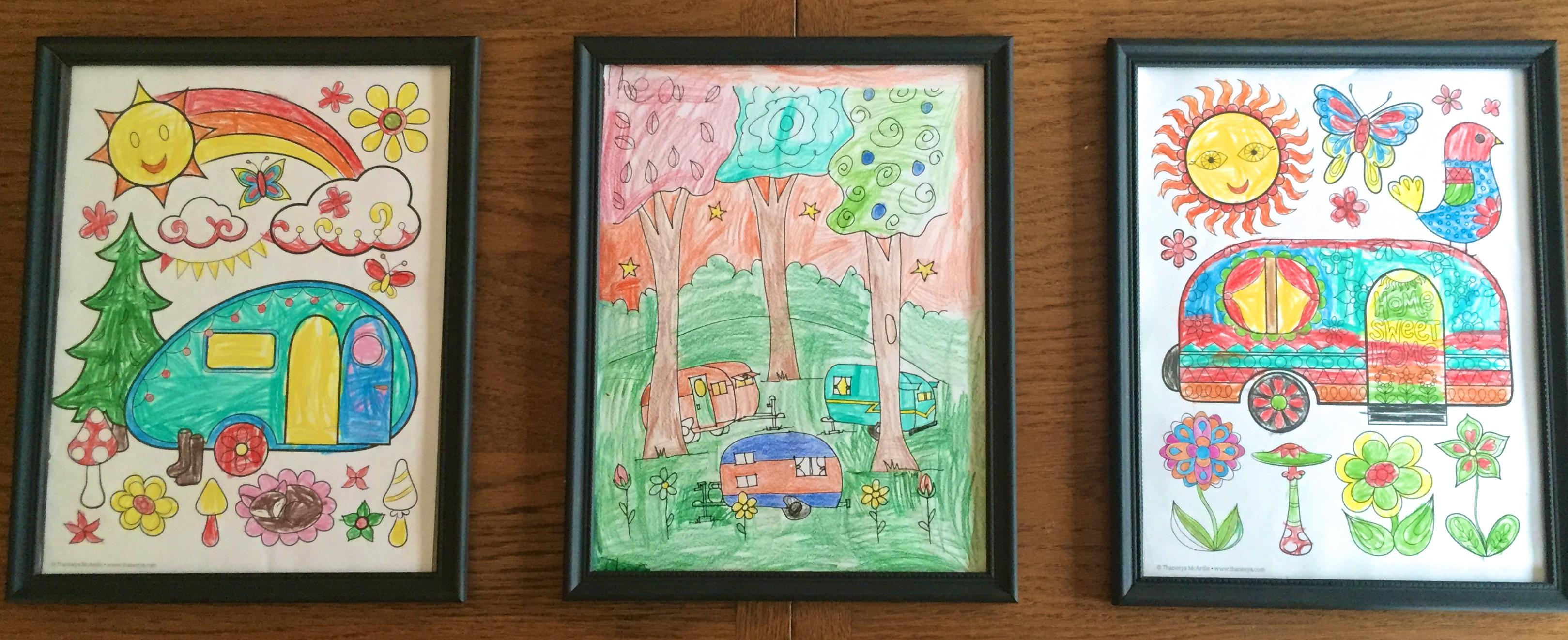 camper coloring
