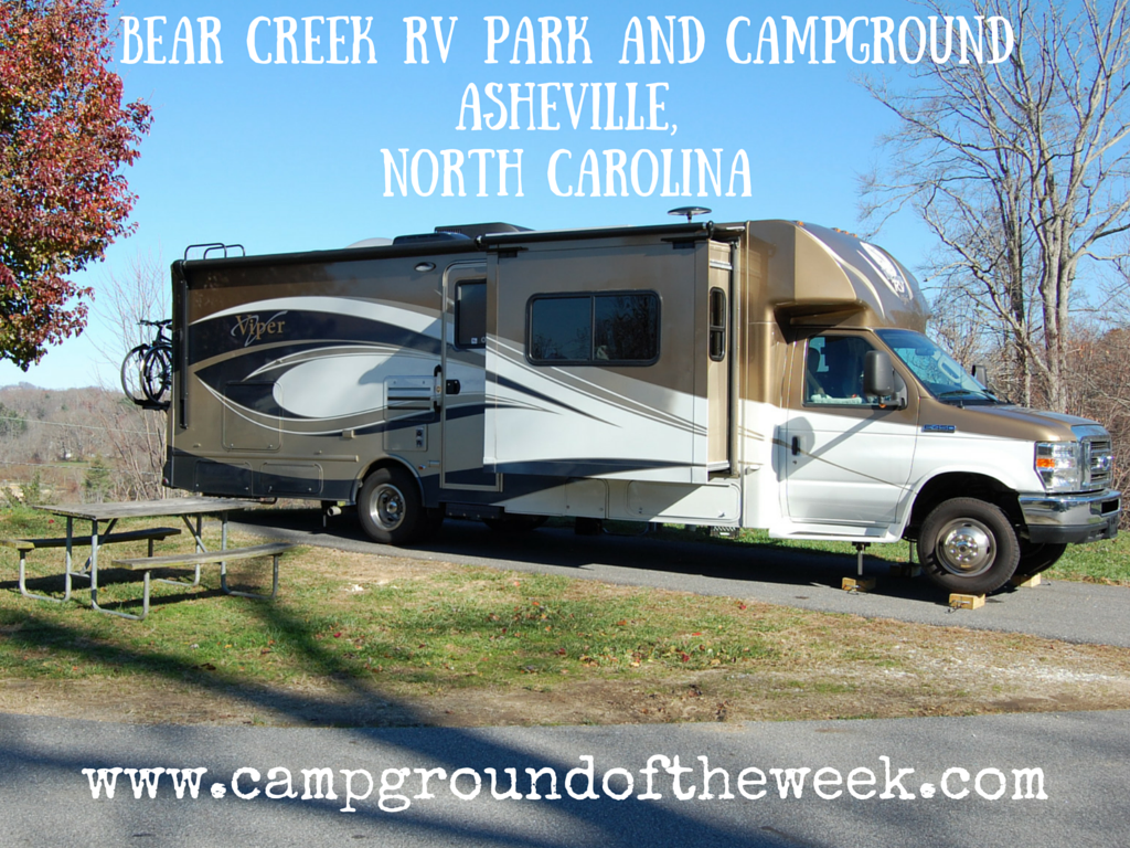 Bear Creek RV Park and Campground Asheville North Carolina