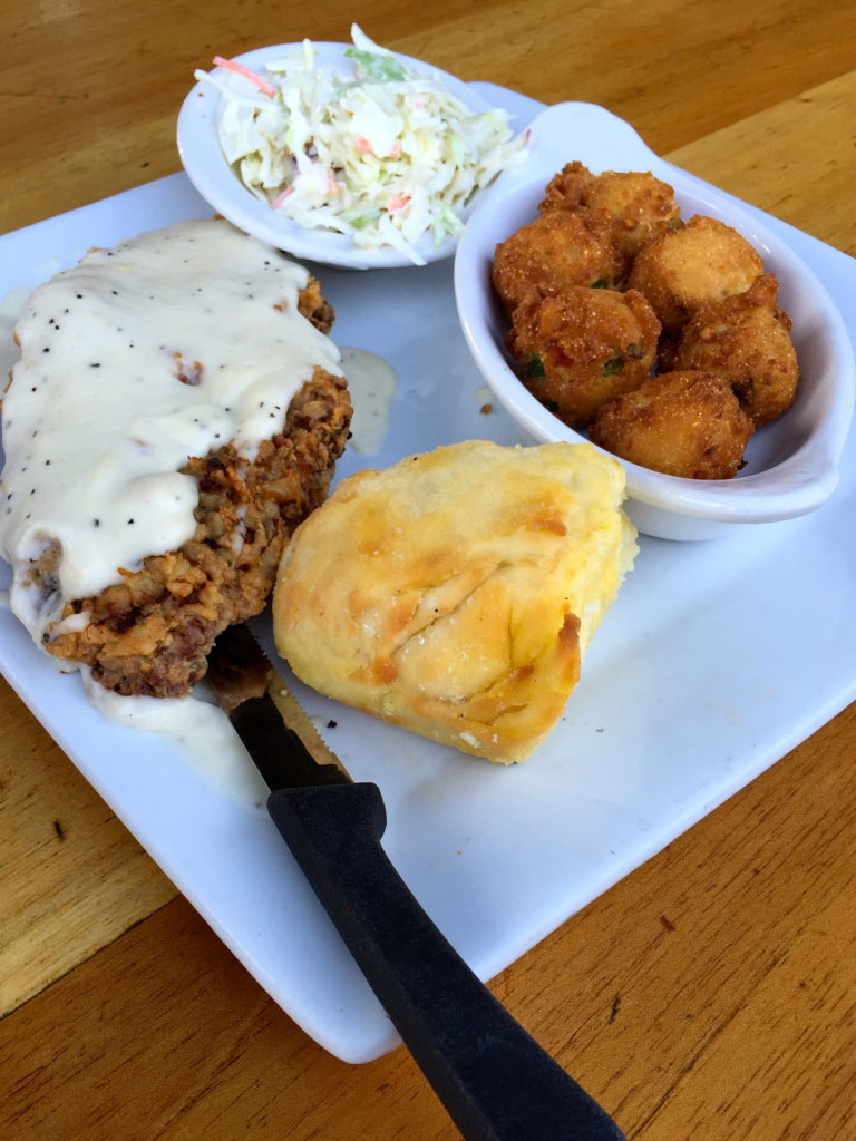 Page's Okra Grill Chicken and Biscuits