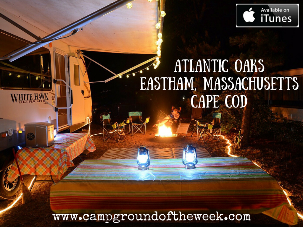 Campground #34 Atlantic Oaks in Eastham, Massachusetts on Cape Cod
