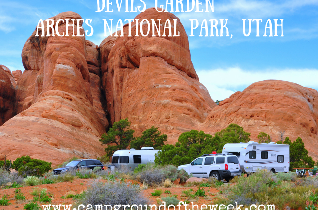 Campground #33 Devil's Garden in Arches National Park, Utah