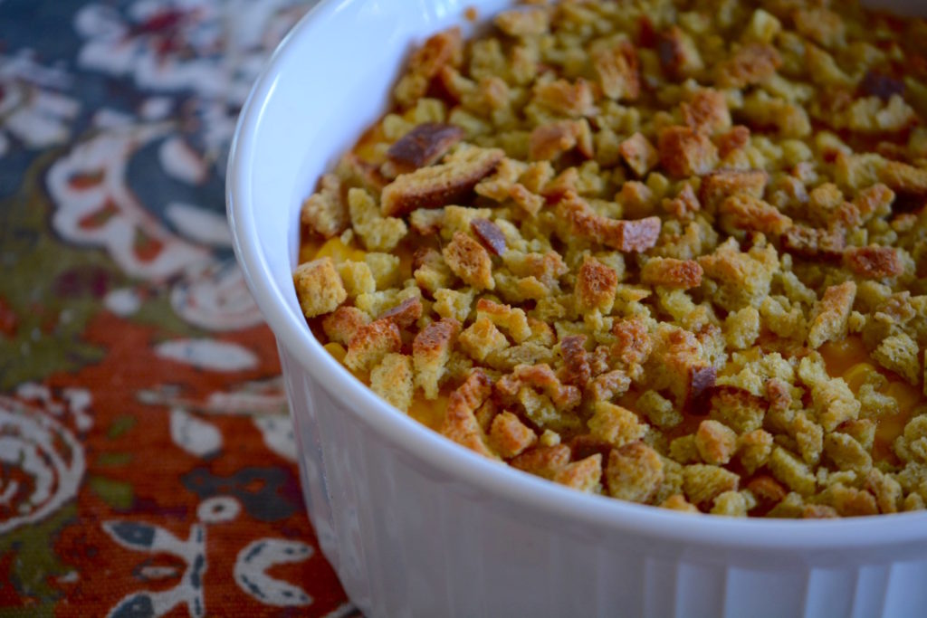 A Campground Thanksgiving: Corn Casserole, InstantPot Mashed Potatoes, and Apple Slaw