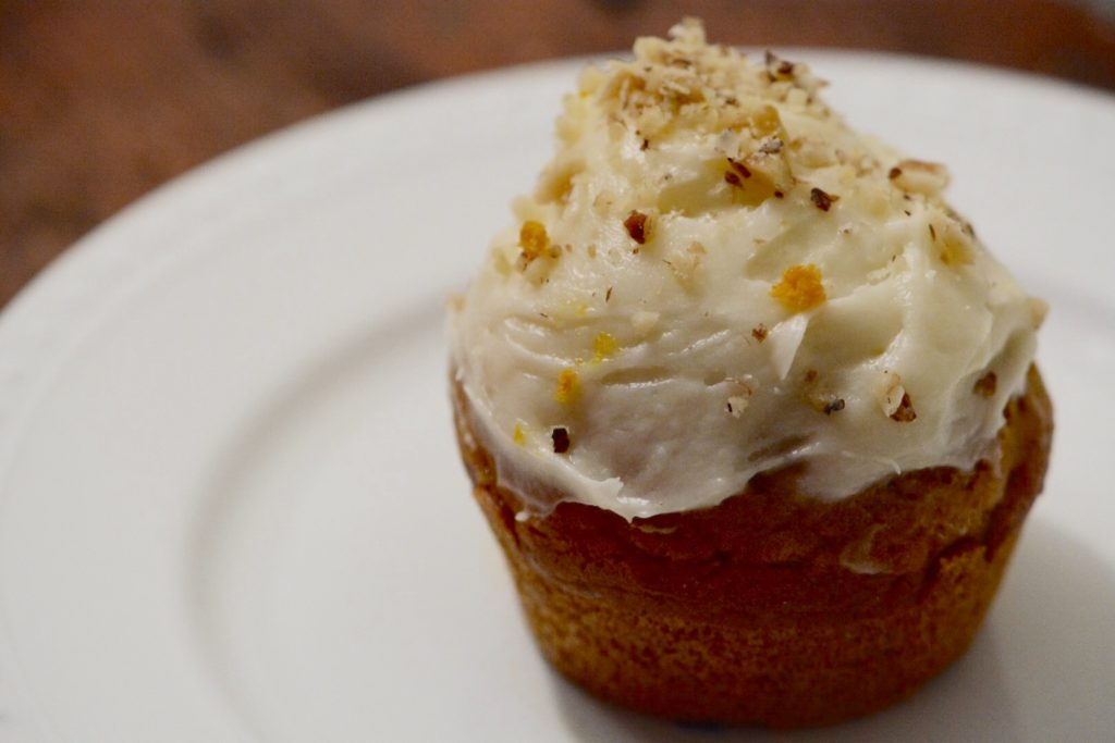 Thanksgiving at the Campground: Pumpkin Bread Cupcakes with Cream Cheese Frosting