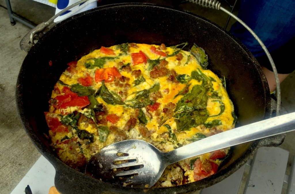 Dutch Oven Breakfast Frittata, Courtesy of the Valley Forge Black Pots