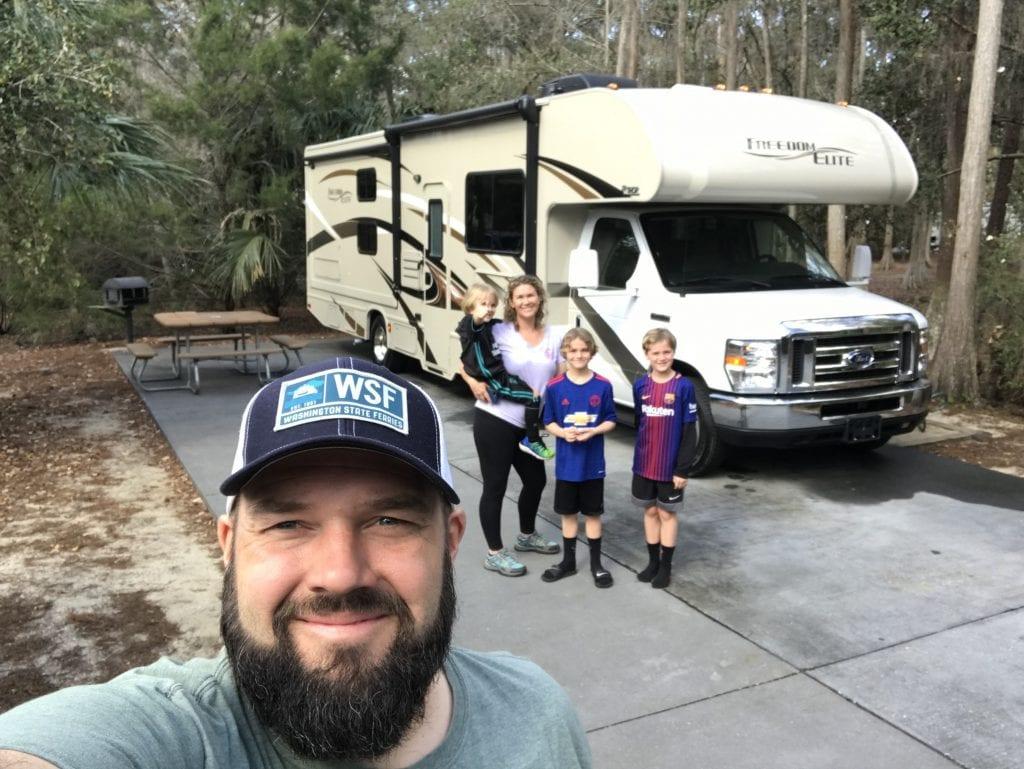 Family at Walt Disney World Fort Wilderness
