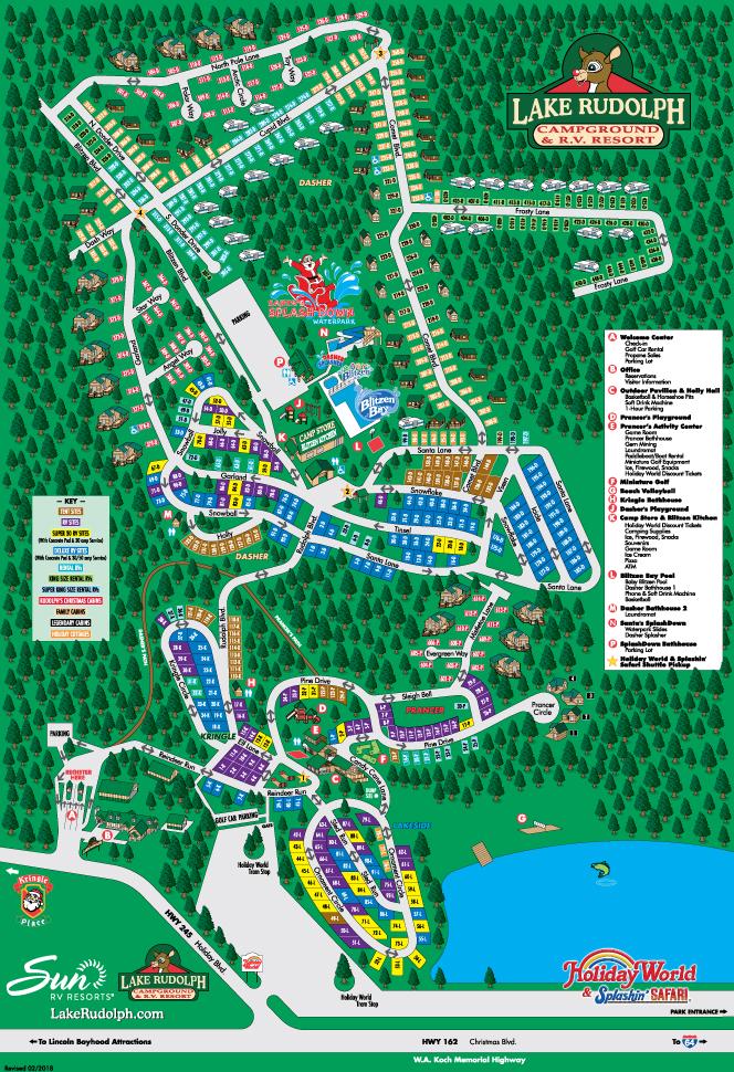 Lake Rudolph Campground Map