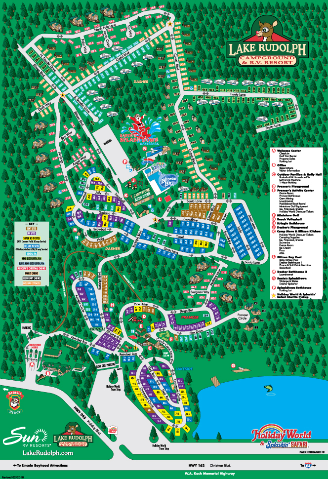 Lake Rudolph Campground Map