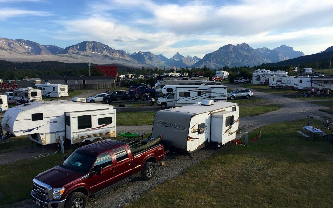St  Mary/East Glacier KOA near Glacier National Park, Montana