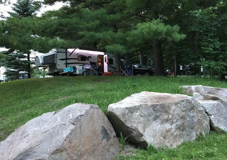 Campground #129 1000 Islands/Ivy Lea KOA in Ontario, Canada