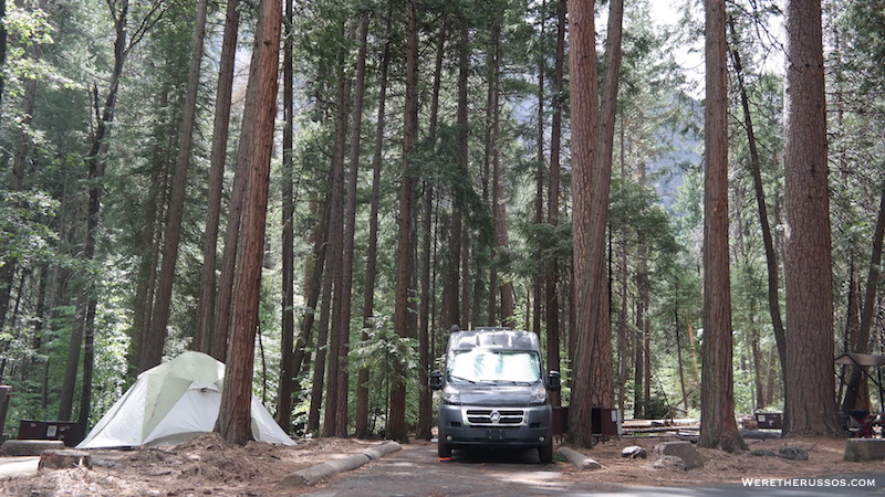 Campground Review #133 Upper Pines Campground in Yosemite National Park, California