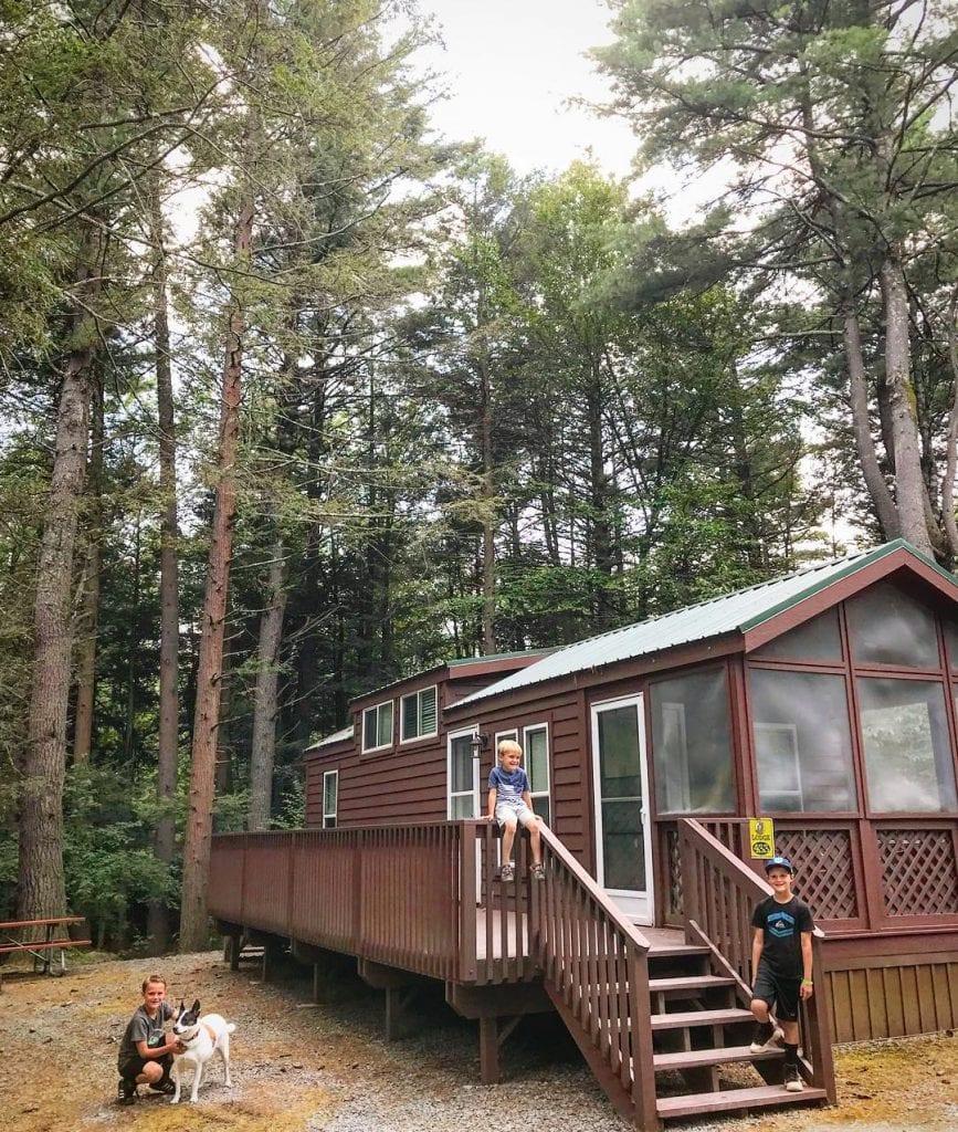 campground cabin rentals