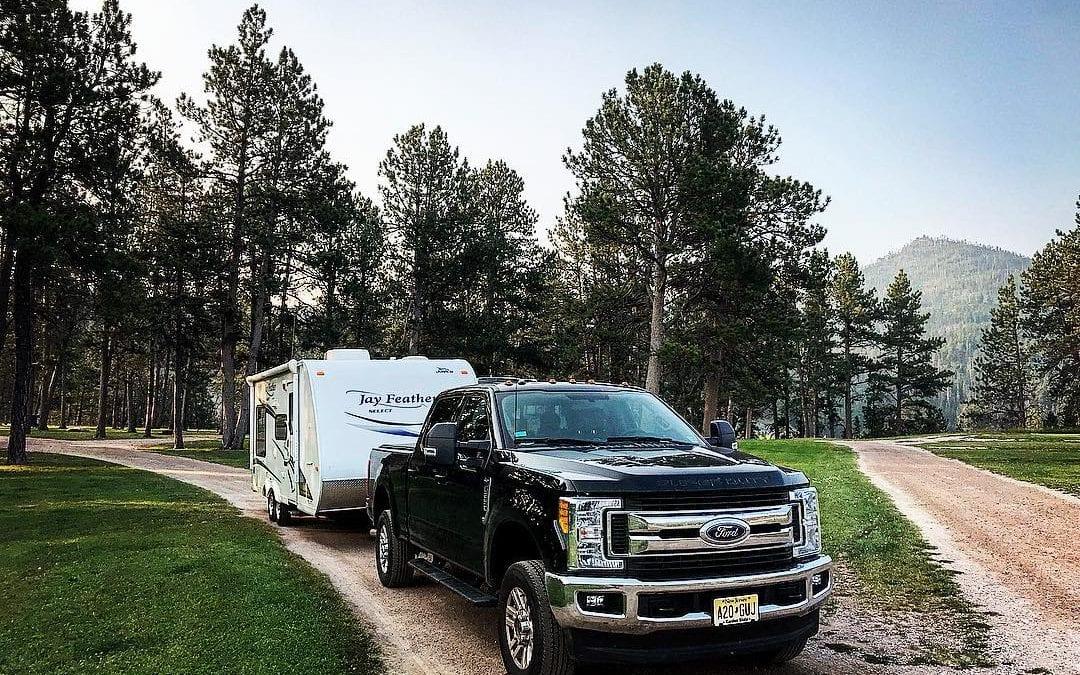 Rafter J Bar Ranch Campground near Mount Rushmore in South Dakota