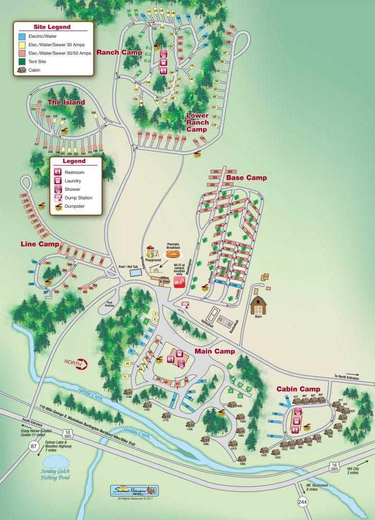 Planning A Road Trip >> Rafter J Bar Ranch Campground Map - RV Family Travel Atlas