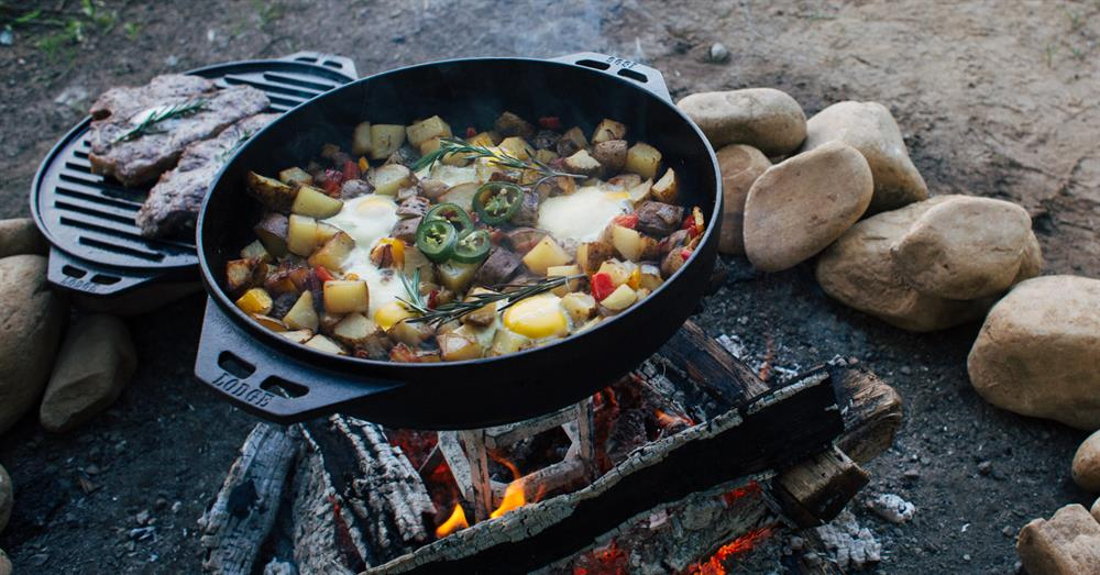 fall camping cooking