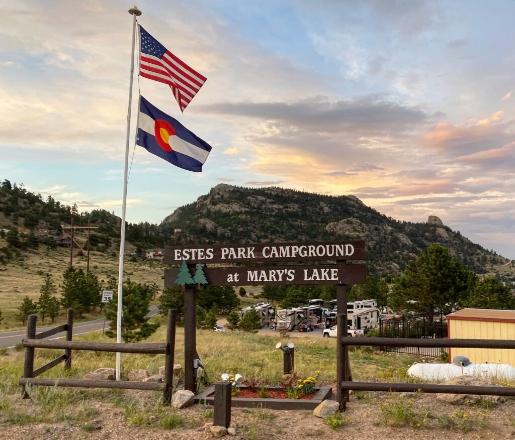 campground review of the Estes Park Campground at Mary's Lake