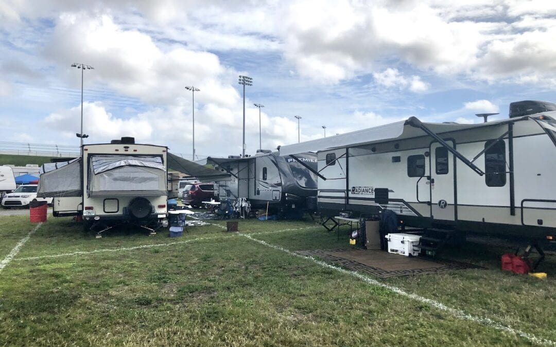 Camping at Daytona International Speedway with Brother Johann Schnell